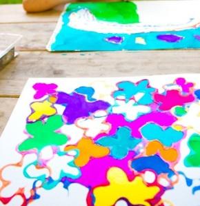 ציור בדבק צבעוני