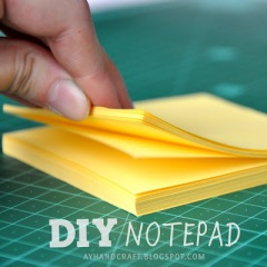 diy notepad -