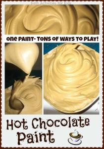 hot chocolate paint recipe