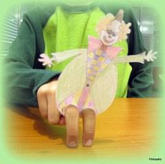 ליצן- בובת אצבעות