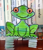 צפרדע קופצנית- יצירה לפסח