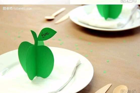 DIY-3D-Paper-Apple-Ornament